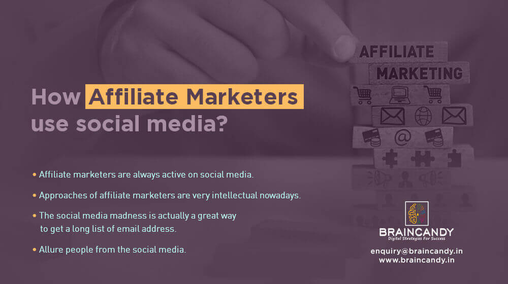 How affiliate marketers use social media
